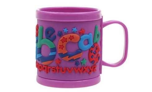 obrázok Hrnček detský plastový (fialový abeceda)