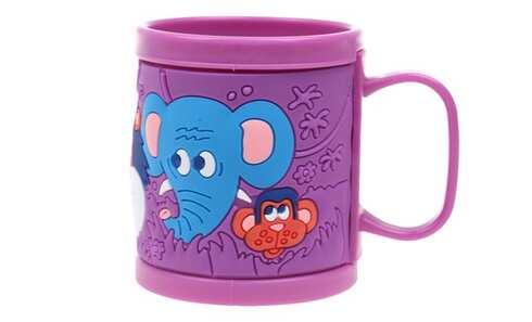 obrázek Hrnek dětský plastový (fialový zvířátka)