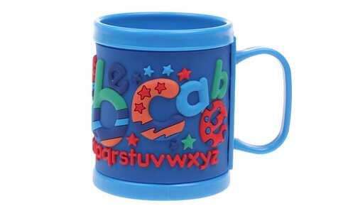 obrázok Hrnček detský plastový (modrý abeceda)