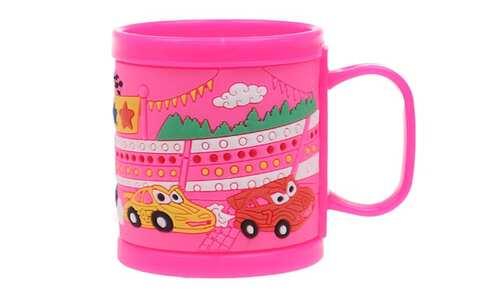 obrázek Hrnek dětský plastový (růžový auta)