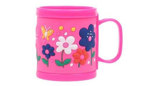 obrázok Hrnček detský plastový (ružový kvetinky)