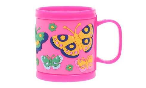obrázok Hrnček detský plastový (ružový motýľ)