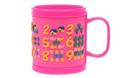 obrázek Hrnek dětský plastový (růžový s čísly)