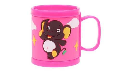 obrázek Hrnek dětský plastový (růžový slon)