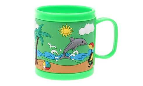 obrázok Hrnček detský plastový (zelený pláž)