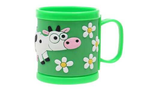 obrázek Hrnek dětský plastový (zelený kravička)