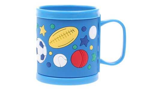 obrázok Hrnček detský plastový (modrý lopta)