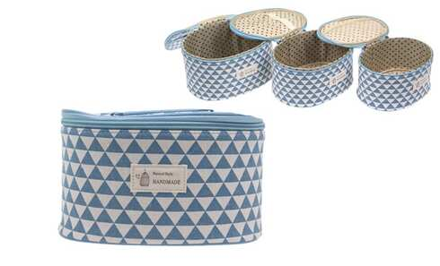 obrázok Kufrík kozmetický 3 v 1 modrý