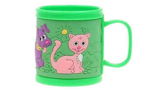 obrázok Hrnček detský plastový (zelený psík a mačička)