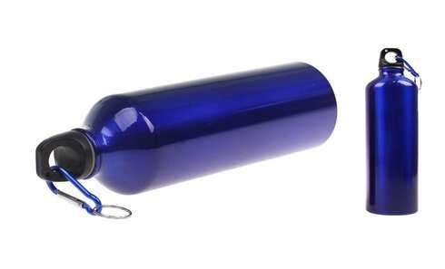obrázek Lahev na vodu s karabinou modrá