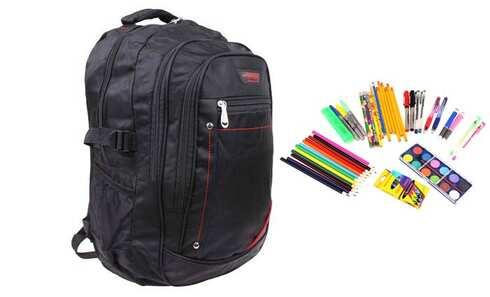 obrázok Batoh čierny s náplňou školských potrieb typ B
