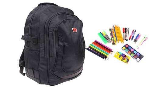 obrázok Batoh čierny s náplňou školských potrieb typ C