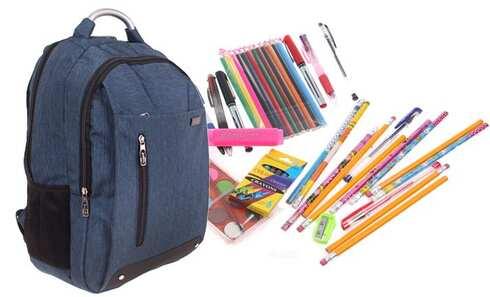 obrázok Batoh Advanced s náplňou školských potrieb modrý