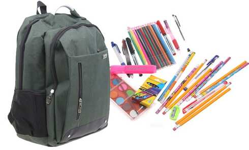 obrázok Batoh Advanced s náplňou školských potrieb zelený