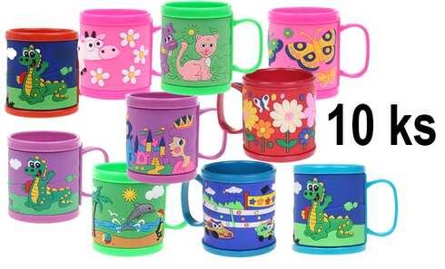obrázek Hrnek dětský plastový MIX 10 ks
