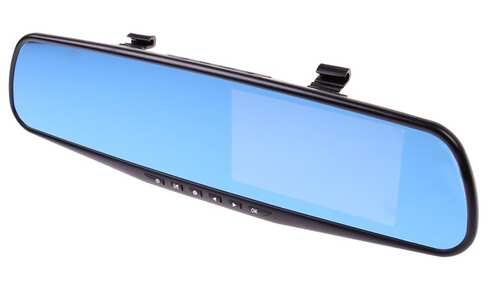 Černá skříňka zpětné zrcátko DVR Full HD 1080P