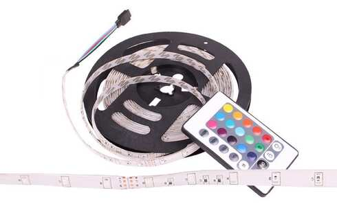 obrázok LED pásik 5 metrov - RGB