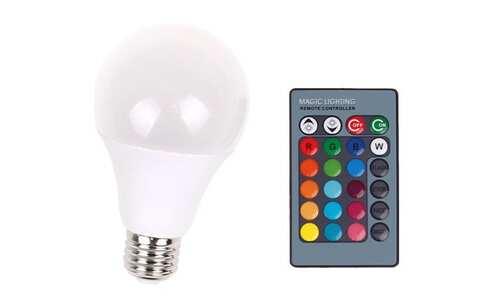 obrázok LED žiarovka 2v1 White + RGB