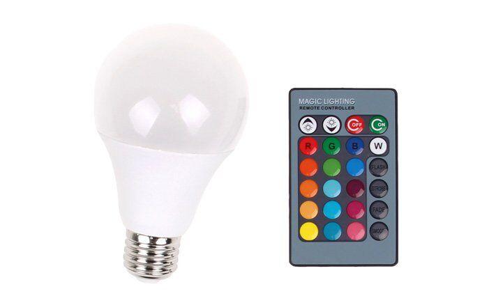 LED žárovka RGB s dálkovým ovladačem
