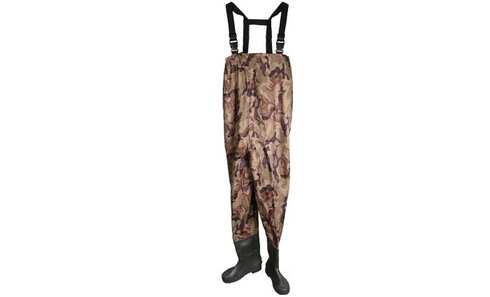 obrázek Brodící kalhoty tmavý maskáč 43