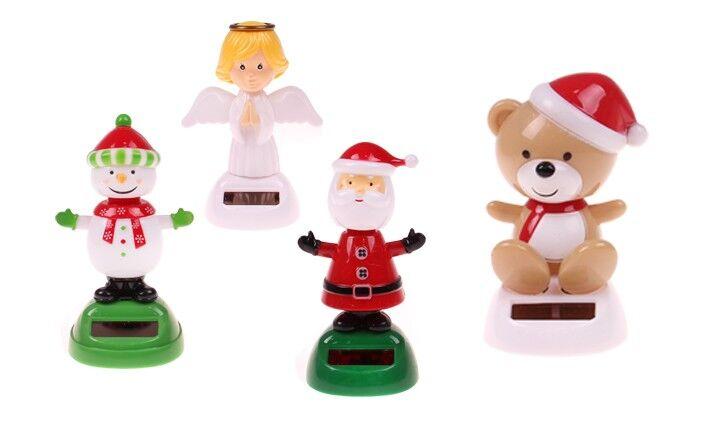 Solární tančící hračka vánoční