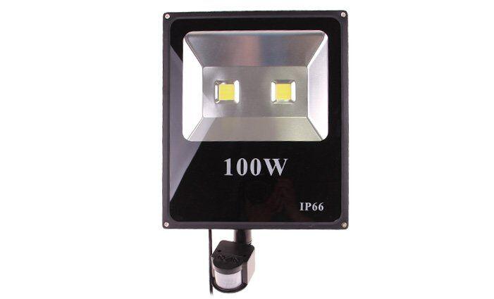 PIR LED reflektor s pohybovým senzorem IP66, 100 W