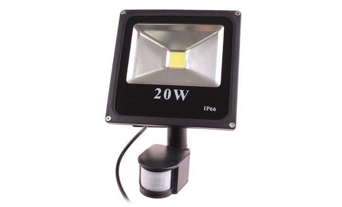 PIR LED reflektor s pohybovým senzorem 20 W, IP 66
