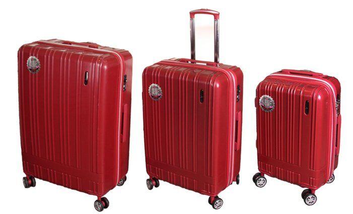 Sada 3 skořepinových kufrů RainDeer