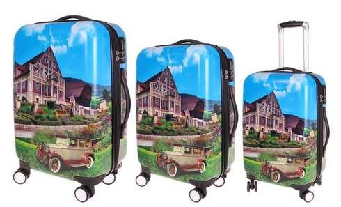 obrázek Sada 3 skořepinových kufrů (dům)