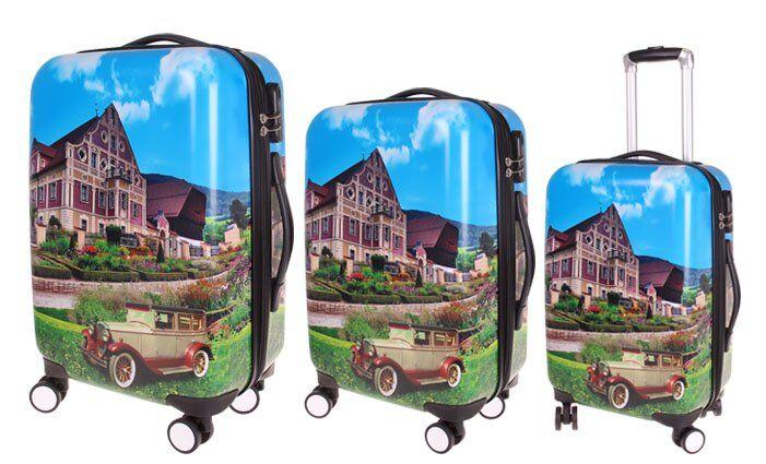 Sada 3 skořepinových kufrů (dům)