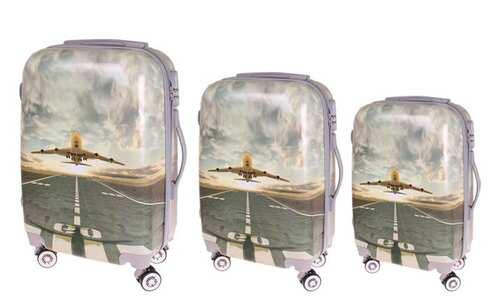 obrázek Sada 3 skořepinových kufrů (letadlo)
