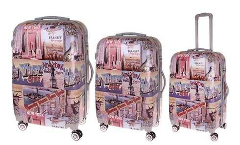 obrázek Sada 3 skořepinových kufrů (New York)