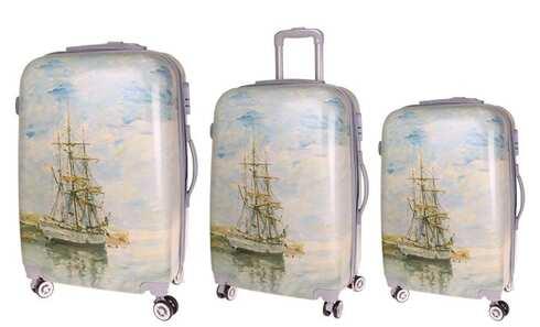 obrázok Sada 3 škrupinových kufrov (loď)