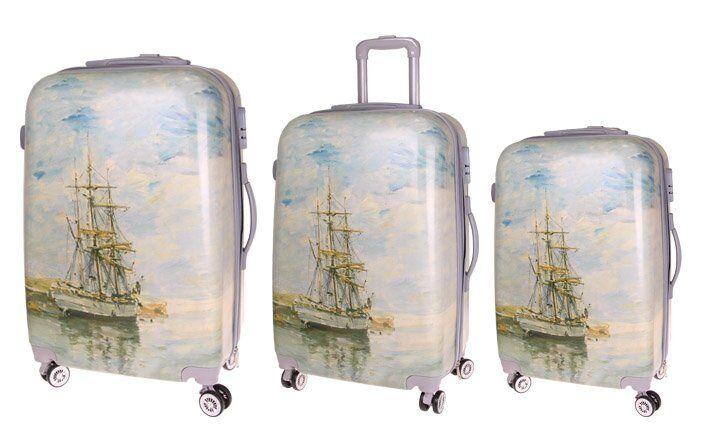 Sada 3 skořepinových kufrů (loď)