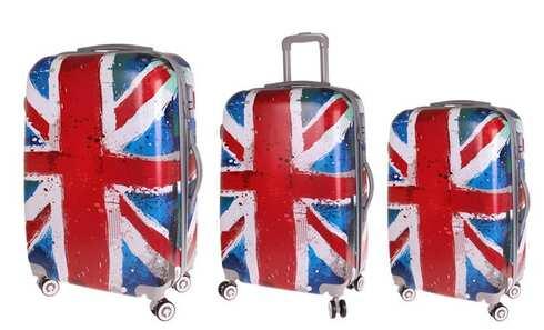 obrázek Sada 3 skořepinových kufrů (vlajka)