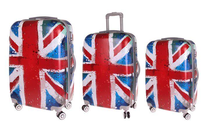 Sada 3 skořepinových kufrů