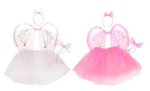 obrázok Kostým anjel ružová / biela