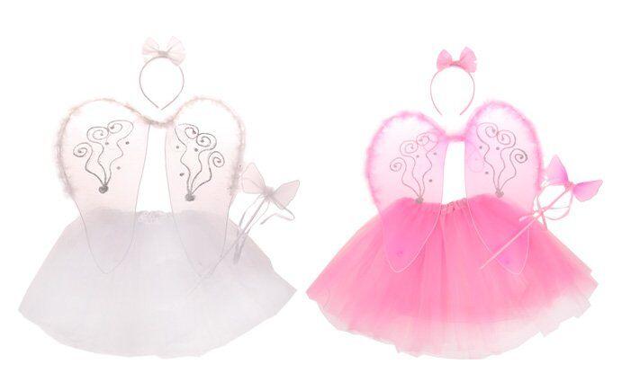 Kostým anděl růžová/bílá