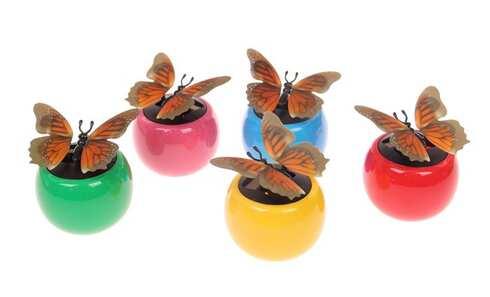 obrázek Solární motýl s 3D efektem
