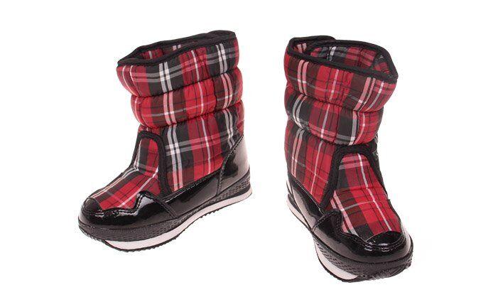 Dětské zimní boty červené