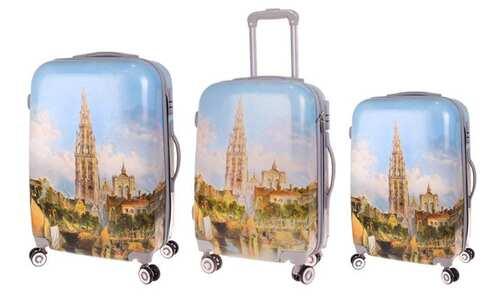 obrázek Sada 3 skořepinových kufrů (chrám)
