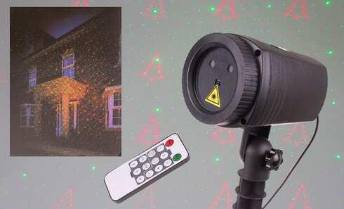 obrázok Vianočné laserové osvetlenie domu