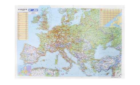 obrázok 5 x podložka na písací stôl s mapou Európy
