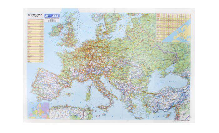 5 x podložka na psací stůl s mapou Evropy