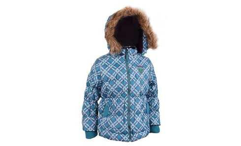obrázok QF Dievčenské bunda Number 1 modro-fialová kockovaná