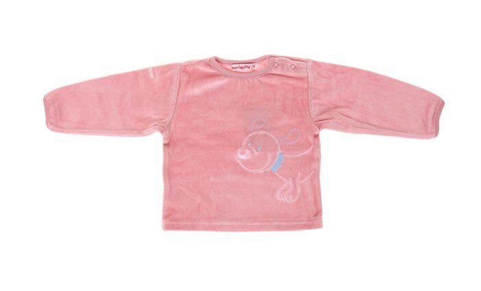 Dětské tričko růžové s pejskem