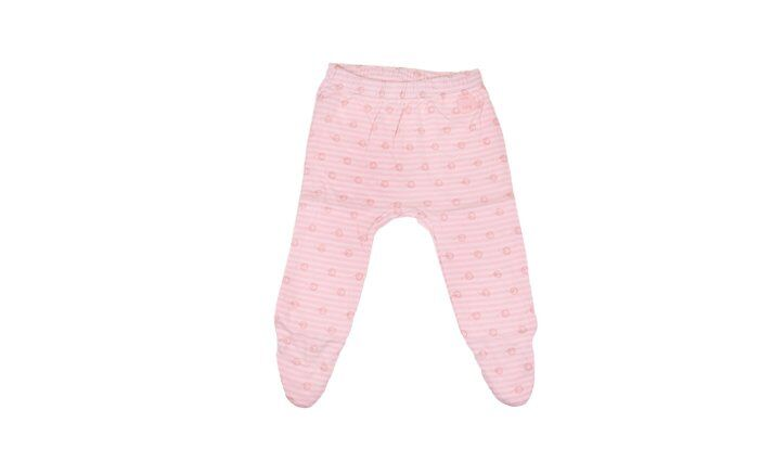 Kojenecké kalhoty růžové pruhované