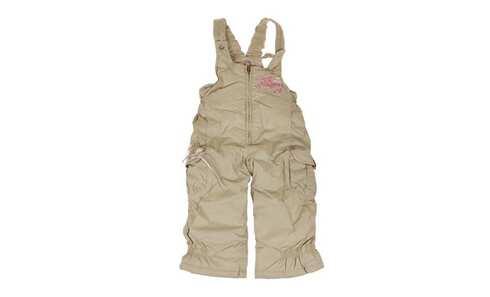obrázok Dievčenské zateplené nohavice s trakmi khaki