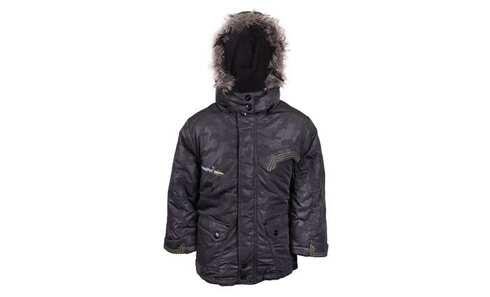 obrázok Chlapčenská zimná bunda s kapucňou s kožušinkou vel. 92