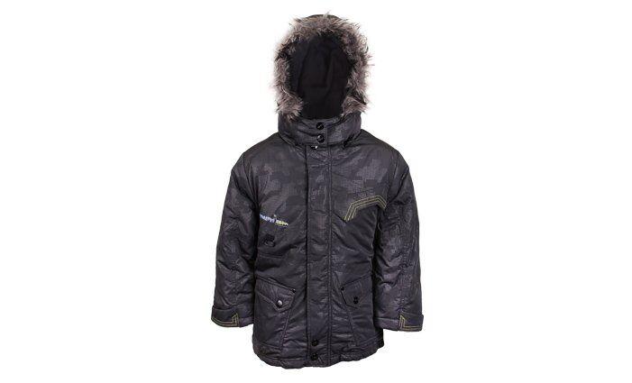 Chlapecká zimní bunda s kapucí s kožíškem